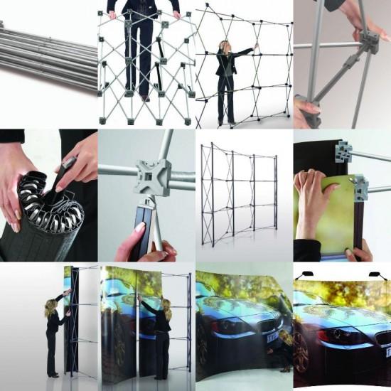 Örümcek Stand 4 Panel Oval (3x4) Hardcase