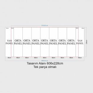 Örümcek Stand 7 Panel Oval (3x7) Hardcase