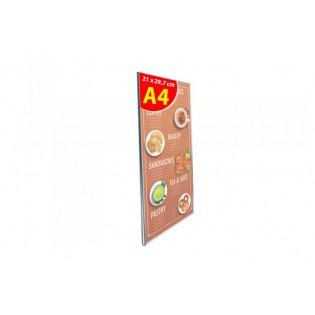 U Tipi Pleksi Föylük/Etiketlik Dikey A4 (21X30cm)