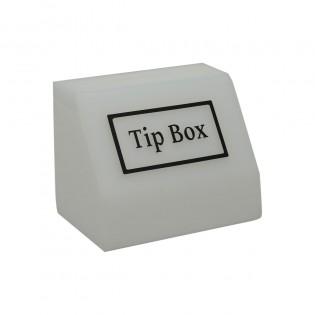 Tipbox - Bahşiş Kutusu Buz Beyaz - 15x10xh12cm