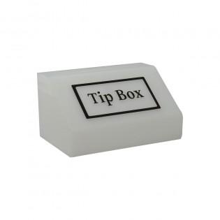 Tipbox - Bahşiş Kutusu Buz Beyaz - 20x13xh12cm
