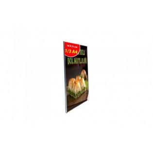 U Tipi Pleksi Föylük/Etiketlik Dikey 1/3 A4 (10X21cm)