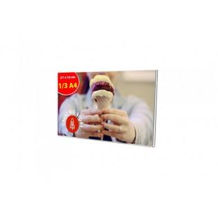 U Tipi Pleksi Föylük/Etiketlik Yatay 1/3 A4 (10X21cm)