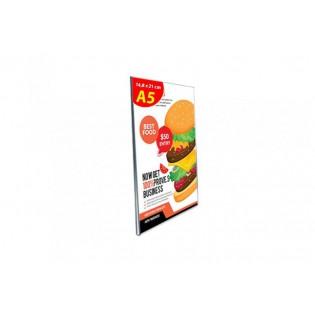 U Tipi Pleksi Föylük/Etiketlik Dikey A5 (15X21cm)