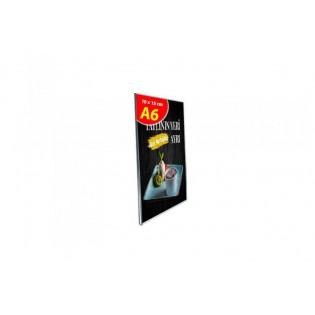U Tipi Pleksi Föylük/Etiketlik Dikey A6 (10X15cm)