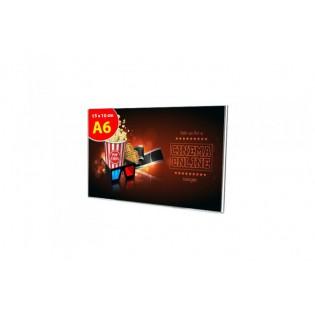 U Tipi Pleksi Föylük/Etiketlik Yatay A6 (10X15cm)