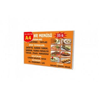 U Tipi Pleksi Föylük/Etiketlik Yatay A4 (21X30cm)