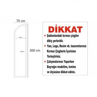 Yelken Bayrak 75×300cm